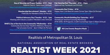 STL Realtist Week Worship & Prayer Service tickets