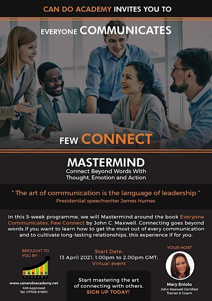 Everyone Communicates, Few Connect Mastermind image