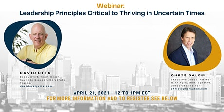 Leadership Principles Critical to Thriving in Uncertain Times tickets