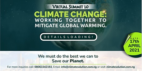 CLIMATE CHANGE: VIRTUAL SUMMIT tickets
