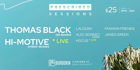 Prescribed Sessions tickets