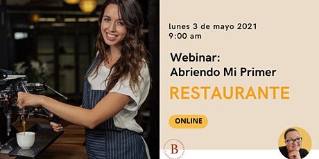 Webinar  Abriendo Mi Primer Restaurante entradas