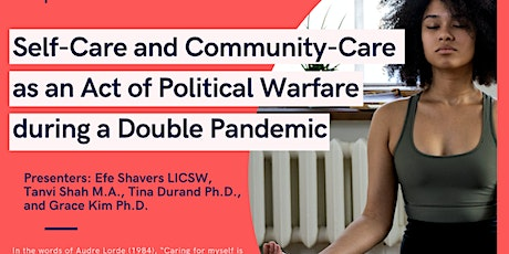 CPAHD Brown Bag Series: Self-Care and Community-Care in a Double Pandemic tickets
