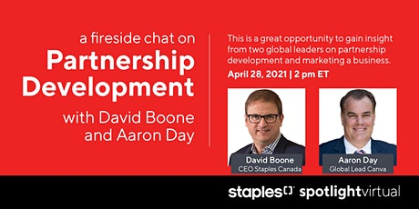 Partnership Development a Fireside Chat with David Boone and Aaron Day tickets