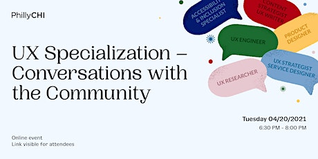 UX Specialization – Conversations with the Community tickets