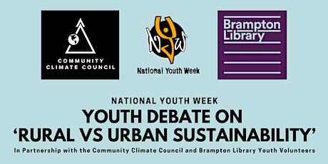 National Youth Week: Debate on 'Rural vs Urban Sustainability' tickets