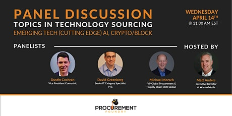 Topics in Technology Panel Discussion- Emerging Tech, AI, Crypto/Block tickets