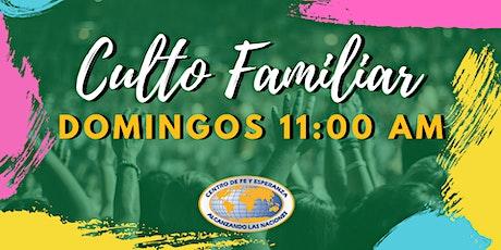 Culto Familiar 11 de abril 11:00 AM boletos