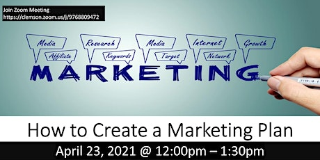 HOW TO CREATE A MARKETING PLAN (FREE ZOOM WORKSHOP) tickets