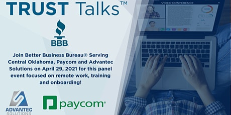 TRUST Talks ™  - Remote training, onboarding, and Human Resources tickets