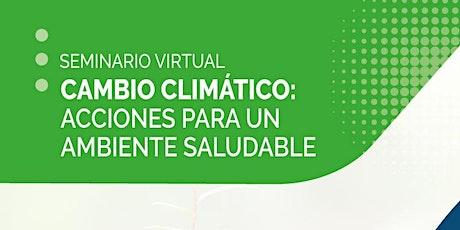 Cambio climático: acciones para un ambiente saludable entradas