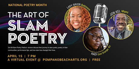 The Art of Slam Poetry: National Poetry Month tickets