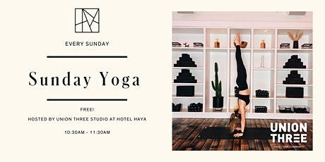 Sunday Yoga with Union Three Studio tickets