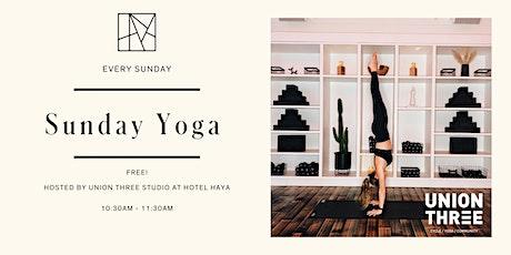 Sunday Yoga with Union Three Studio tickets