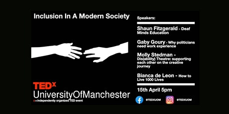 Inclusion in a Modern Society | TEDxUniversityofManchester tickets