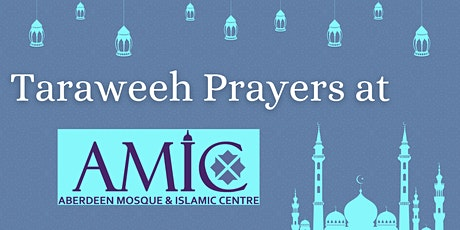 Isha and  Taraweeh Salah at AMIC booking for  12-15  Apr tickets