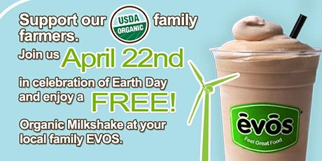 Free Organic Milkshake in Celebration of Earth Day! tickets