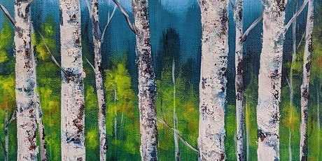 Acrylic Painting - Birch Trees with Kelly Maw - morning tickets