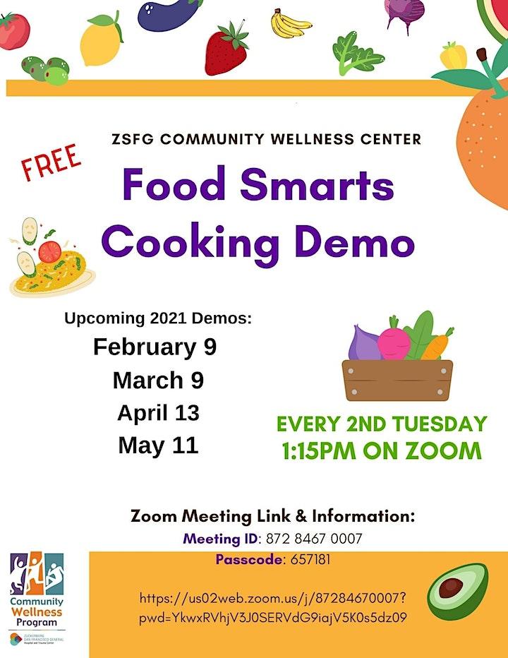 ZSFG Community Wellness - Food Smarts Cooking Demo image