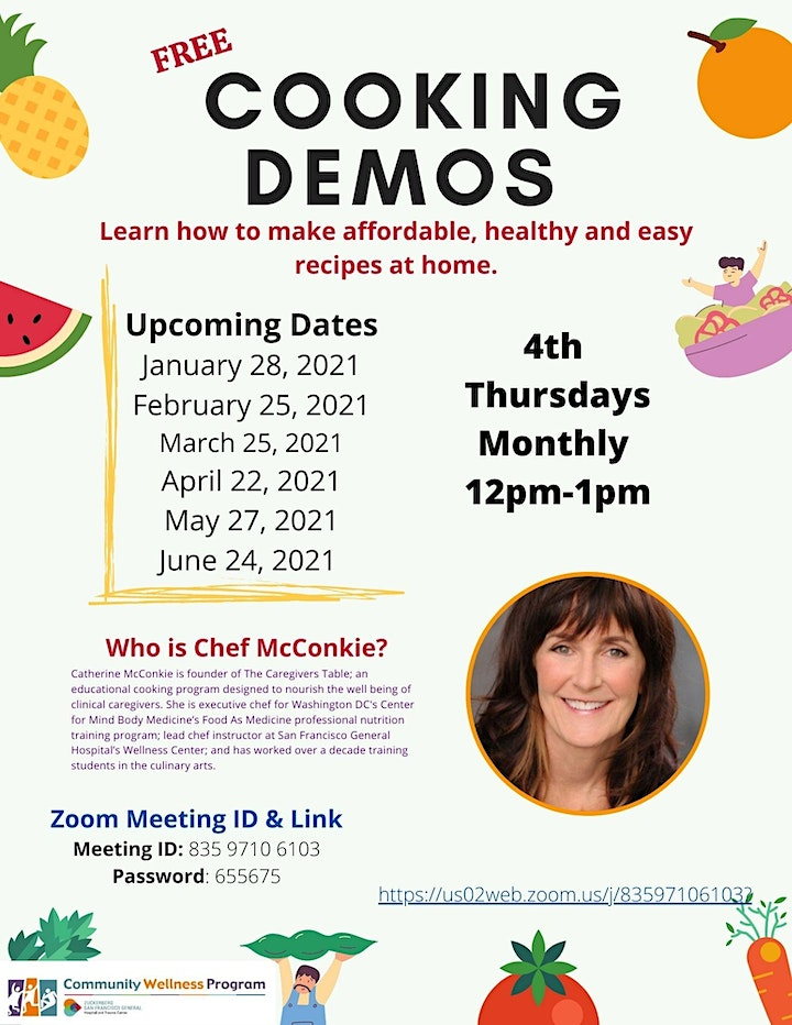 ZSFG Community Wellness Cooking Demos With Chef Catherine image