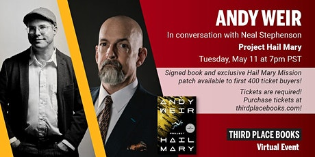 Andy Weir, In Conversation with Neal Stephenson - Project Hail Mary tickets