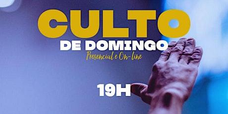 Culto Domingo as 19:00hrs ingressos