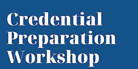 Credential Preparation Workshop tickets