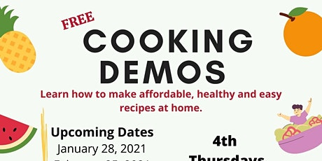 ZSFG Community Wellness Cooking Demos With Chef Catherine tickets