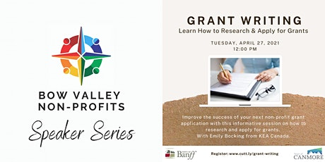 Bow Valley Non-Profits Speaker Series - Grant Writing tickets