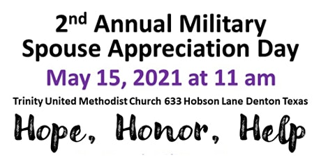 Thou Art my Sister Ministries 2nd Annual Military Spouse Appreciation Day tickets