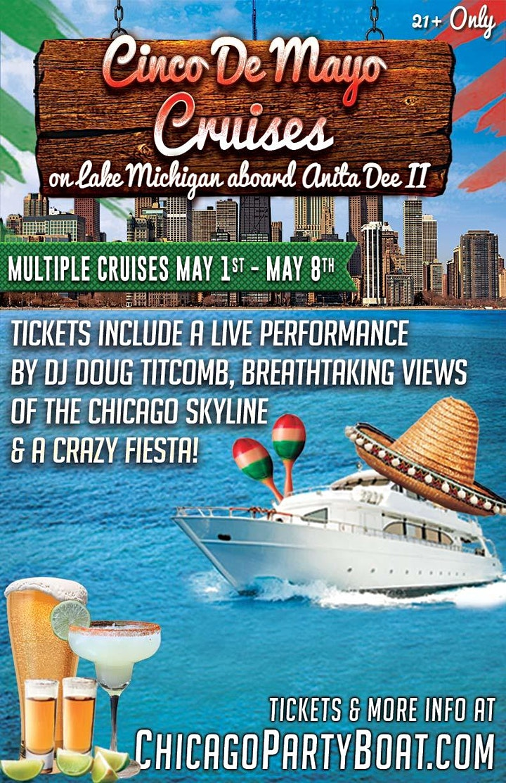 Cinco de Mayo Party Cruises  on Lake Michigan (21+ Only) image
