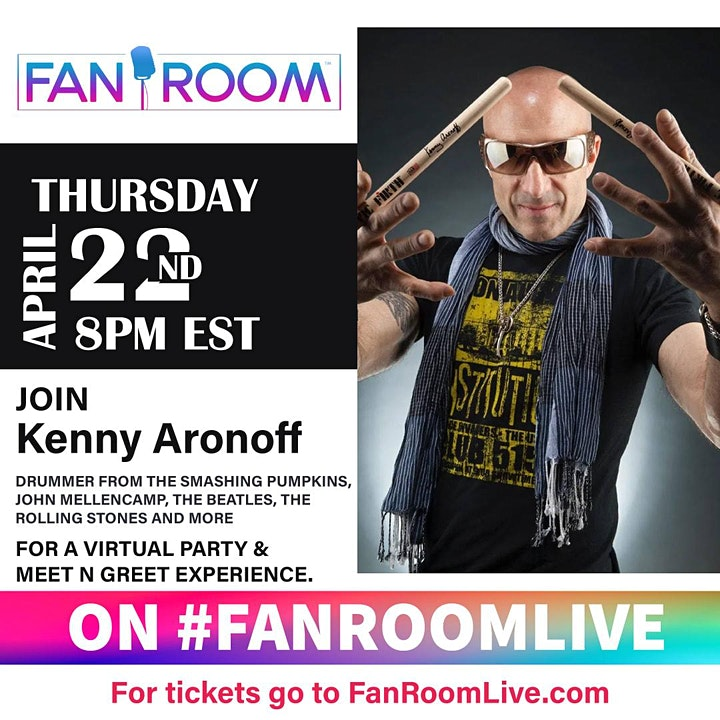 Kenny Aronoff hosts FanRoom Live! image