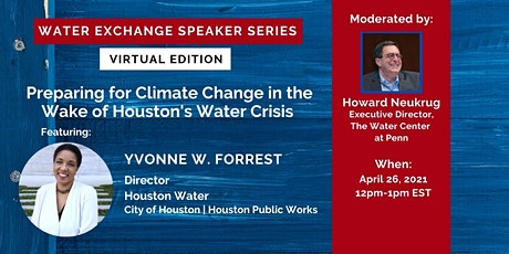 Preparing for Climate Change in the Wake of Houston's Water Crisis tickets