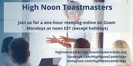 High Noon Toastmasters - Online Meetings tickets