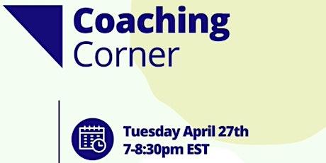 Coaching Corner April 2021 Tickets