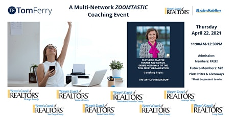 A Multi Network Zoomtastic Tom Ferry Coaching Event! bilhetes