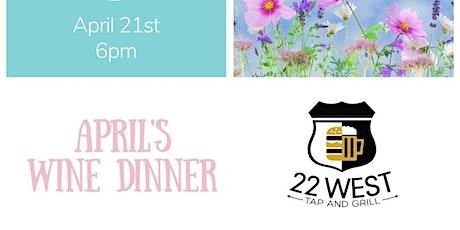 April's Wine Dinner tickets