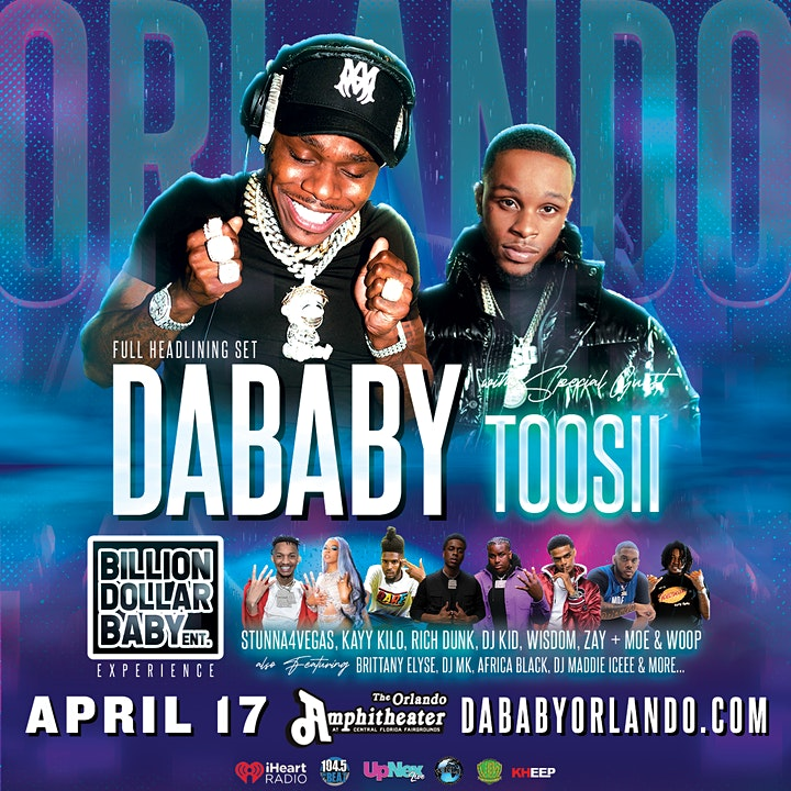 DaBaby, Toosii, & the Billion Dollar Baby Experience (LIVE) Orlando image