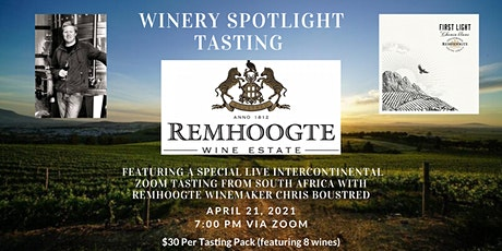 Intercontinental Virtual Tasting with Remhoogte Estate in South Africa 2021 tickets
