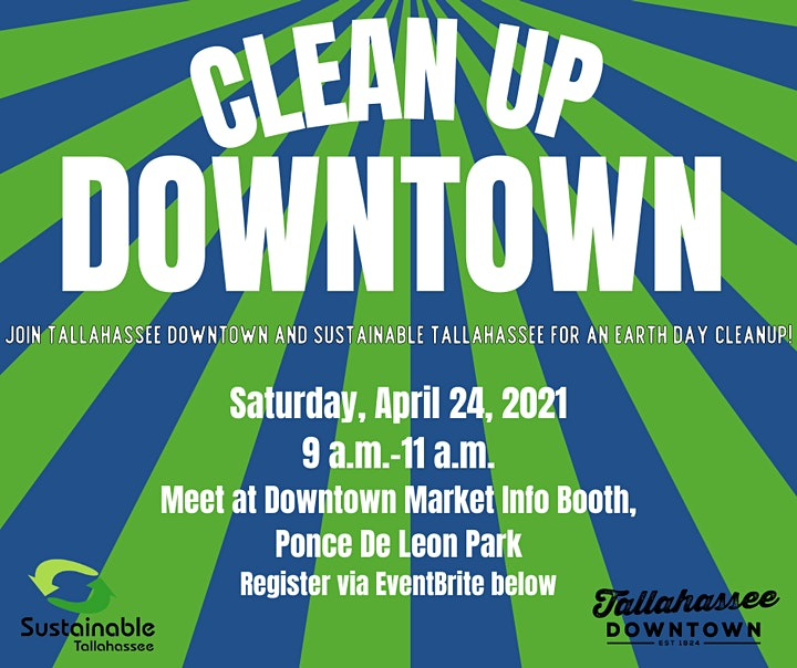 Downtown Clean Up with Sustainable Tallahassee image