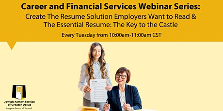 Create The Resume Solution Employers Want to Read and The Essential Resume tickets