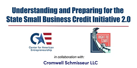 State Small Business Credit Initiative (SSBCI) 2.0, Part I tickets
