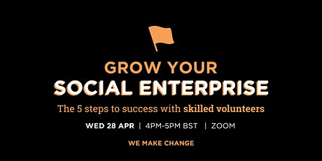 Grow Your Social Enterprise: The 5 steps to success with skilled volunteers tickets