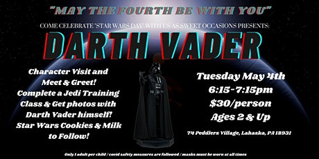 Darth Vader Jedi Training & Character Visit tickets