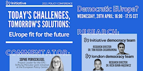 EUrope fit for the future - Panel: Democratic EUrope? tickets