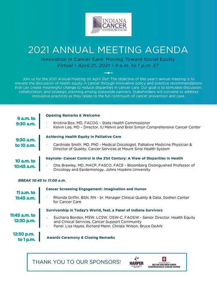 Indiana Cancer Consortium 2021 Annual Meeting image