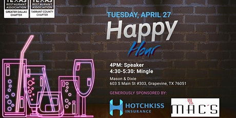 TCRA & GDRA Happy Hour tickets