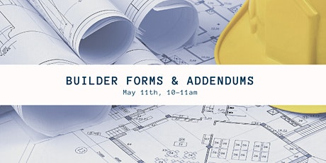 Builder Forms & Addendums (1 CEU, #256-5073-E) tickets
