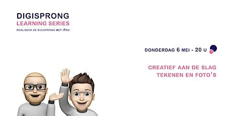Digisprong Learning Series - creatief aan de slag tekenen en foto's tickets