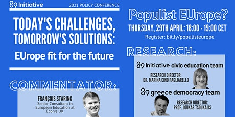 EUrope fit for the future - Panel: Populist EUrope? tickets